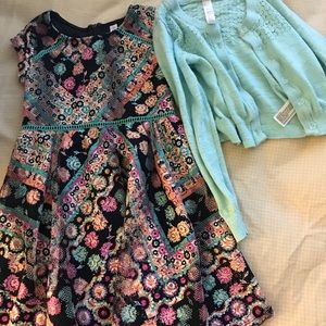 Size 4-5 dress and sweater